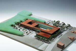 Die Abbildung zeigt ein Model des geplanten Neubaus der Gesamtschule.